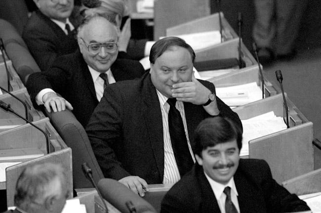 С Егором Гайдаров. 1995 год