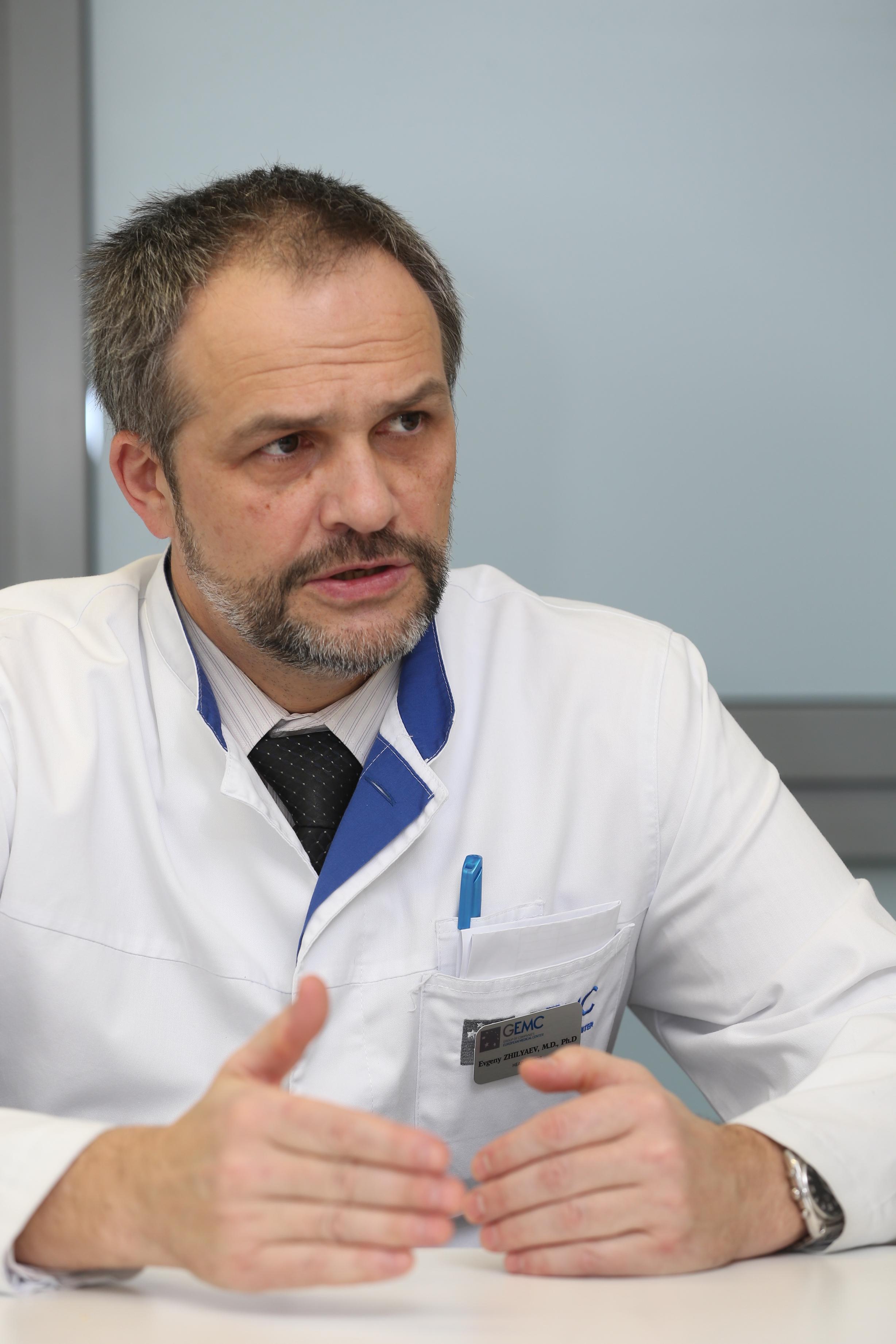 Евгений Жиляев, главный врач ЕМС, главный ревматолог Москвы, профессор, доктор медицинских наук, врач высшей категории