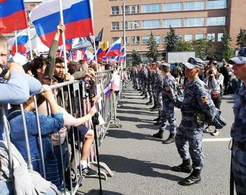 «Собянина под плитку»: митинг «За допуск на выборы» собрал больше 20 тысяч человек