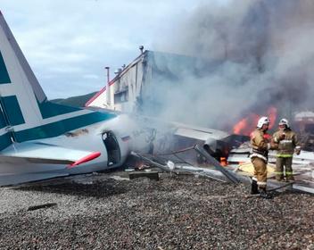 Опубликовано сделанное пассажиром видео крушения Ан-24 в Бурятии