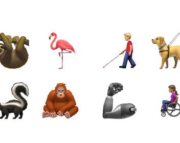 Ленивец, бионическая рука и собака-поводырь: Apple показала новые эмодзи