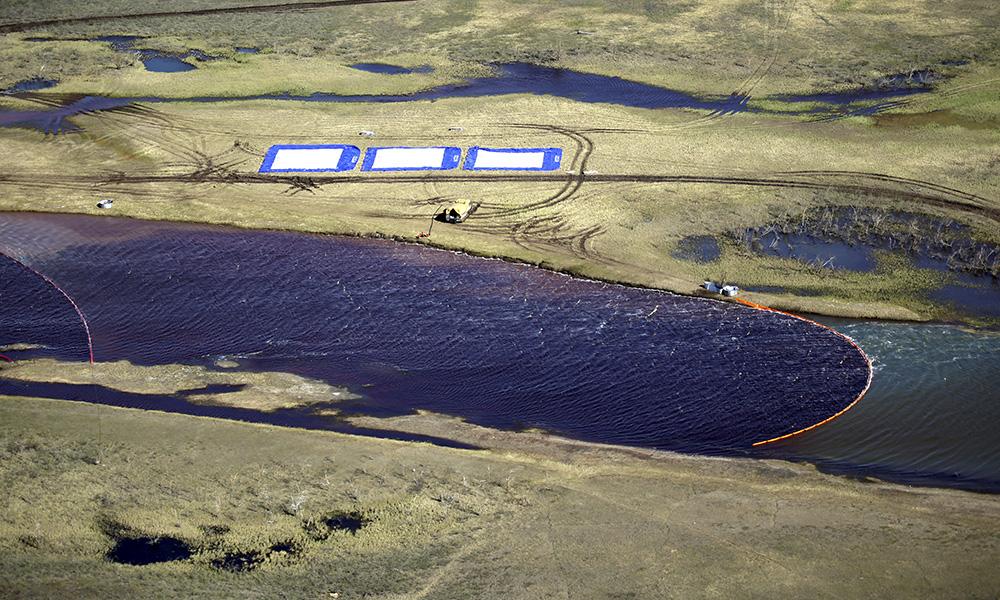 Ликвидация последствий разлива топлива на ТЭЦ-3.