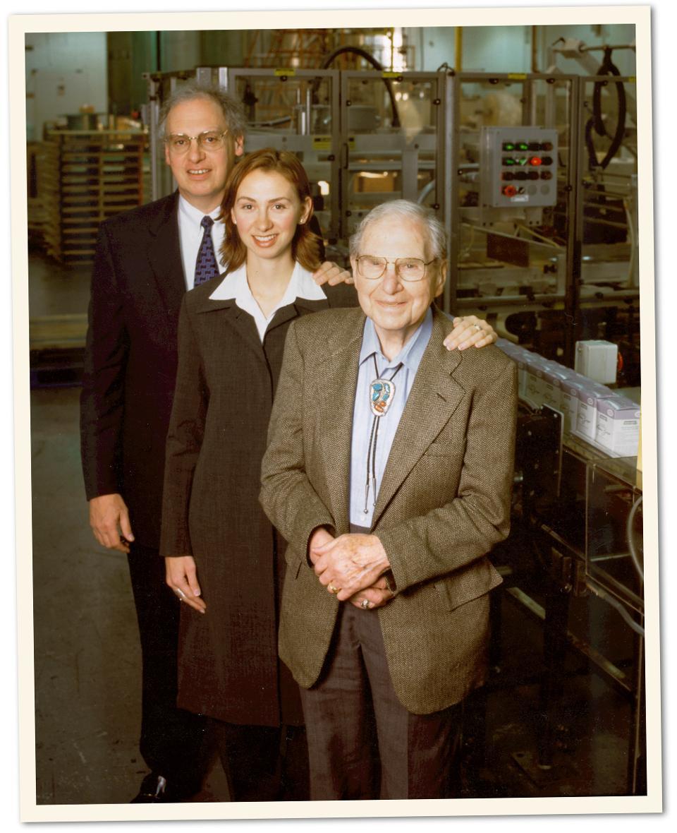 Three generations of the Lippman-Kanfer clan. From left: Joseph Kanfer, Marcella Kanfer Rolnick, Jerry Lippman.