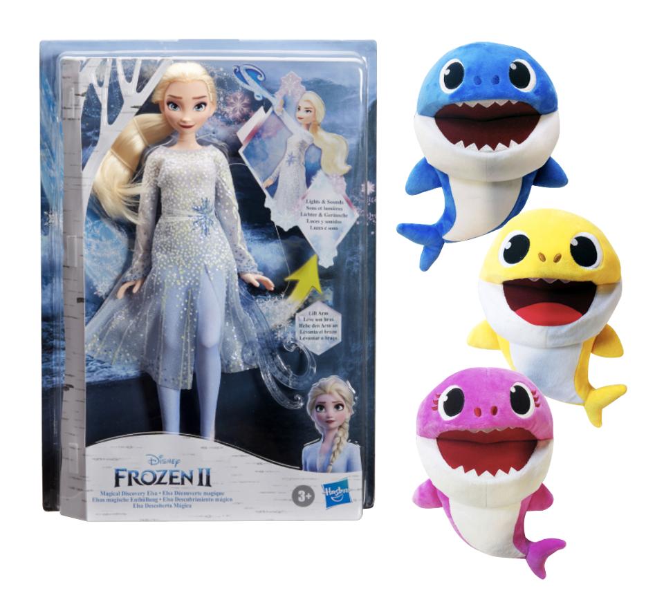 Куклы Эльзы и Pink Shong Baby Shark — две из самых популярные игрушки, выпущенных компанией Early Light