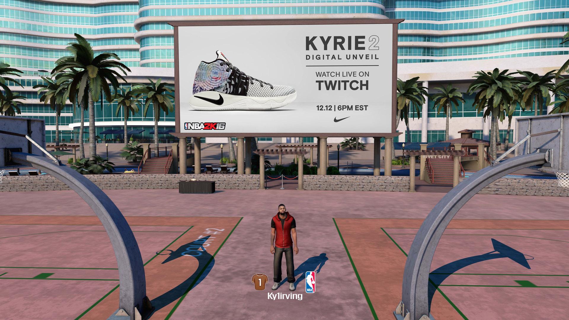 Еще в 2015 году Nike объединился с разработчиками игры «NBA 2K16» Visual Concepts и Twitch для презентации кроссовок «Kyrie 2»