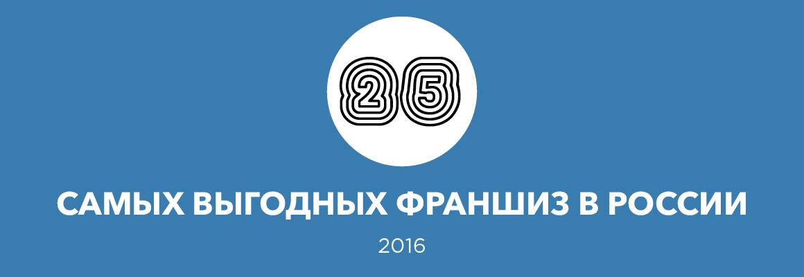 25 самых выгодных франшиз – 2016
