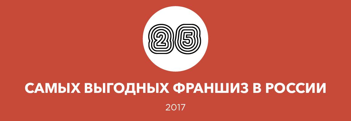 25 самых выгодных франшиз — 2017