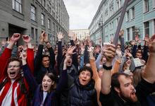 Акция в центре Москвы за регистрацию независимых кандидатов. Фотогалерея