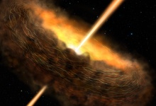 Черная дыра передала информацию на Землю