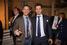 Председатель совета директоров АО «Объединение «Ингеоком» Эрнест Рудяк и вице-президент по маркетингу хоккейного клуба «СКА» Роман Ротенберг на вечеринке банка «Открытие»