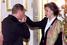 Путин и Клоди Андре-Деэ (в замужестве — Эньере), первая французская женщина-космонавт, 2000 год