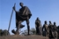 Памятник Махатме Ганди в Дели
