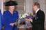 Путин выражает почтение королеве Нидерландов Беатрикс, 2001 год