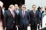 Вице-премьер Дмитрий Козак (в темных очках) и губернатор Краснодарского края Вениамин Кондратьев (справа)