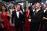 Актер Мэтт Деймон с женой Люсьяной Баррозо и телеведущим Джимми Киммелом