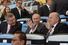 Президент МОК Томас Бах, президент России Владимир Путин и президент ФИФА Йозеф Блаттер на стаидионе «Маракана» во время финального матча ЧМ-2014