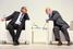 Министр экономического развития России Алексей Улюкаев и председатель совета директоров группы «Ренова» Виктор Вексельберг (№3 в российском списке Forbes, состояние $17,2 млрд)