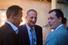 Председатель совета директоров корпорации «Баркли» Леонид Казинец (в центре), зампред правления ОАО «Московская Биржа» Андрей Шеметов (справа)