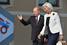 Путин в компании директора Международного валютного фонда Кристин Лагард, Санкт-Петербург, 2013 год