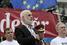 Один из лидеров Гражданской платформы, депутат первого парламента Молдавии Валентин Долганюк во время акции