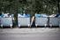 Количество мусорных мешков позади ресторанов