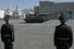 Впервые на боевую технику, участвовавшую в параде, был нанесен новый символ российской армии — пятиконечная звезда