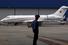 Частный бизне-джет Bombardier Global 5000 с символикой СССР в аэропорту «Домодедово»
