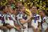 Игроки сборной Германии с Кубком мира во время церемонии награждения на стадионе «Маракана»