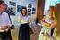Марина Домрачева, 3D Smile (в центре), Сергей Животягин, руководитель продуктовой фабрики Промсвязьбанка, спонсора мероприятия и Ольга Рябова, «Аксель Шпрингер Раша»