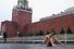 Фиксация: Петр Павленский на Красной площади