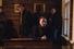 Евгений Миронов, Игорь Гордин и драматург Роман Должанский в школе, построенной Чеховым для сельских детей