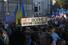Колонна участников марша двигается по Бульварному кольцу