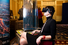Ирина Хакамада у стенда партнера мероприятия «Башня Федерация»