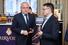 Президент группы компаний-производителей систем безопасности «Цезарь Сателлит» Леонид Огарев (слева), генеральный директор Breitling в России Арсен Балаян