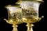 Парные фарфоровые вазы петербургского Императорского фарфорового завода