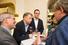 Пресс-секретарь корпорации «Роснефть» Михаил Леонтьев (слева), директор Фонда кино Сергей Толстиков (второй слева)
