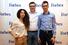 Член жюри конкурса Камиль Курмакаев, Wikimart (в центре), Марина Росс и Андрей Грунин, стартап Hydrop
