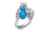 Кольцо, Enchanted Palace, Garrard, белое золото, бриллианты, бирюза