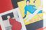 Рекламные постеры: иллюстрация с красным пальто, 1953 год и коллаж Эрберто Карбони, 1958 год