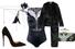 Пояс, Lanvin; боди, Prelude; пижама, Equipment; клатч, Alexander McQueen; туфли, Christian Louboutin