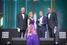 Михаил Копейкин (слева), Фонд БЭА, Анна Гусева, EY, Владислав Соловьев, ООО «Автодок», и Илья Ананьев, EY.