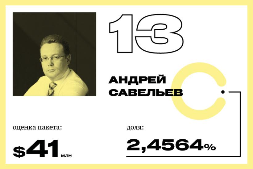 13. Андрей Савельев