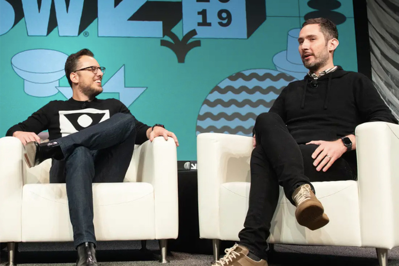 3. Кевин Систром (справа) и Майк Кригер, Instagram
