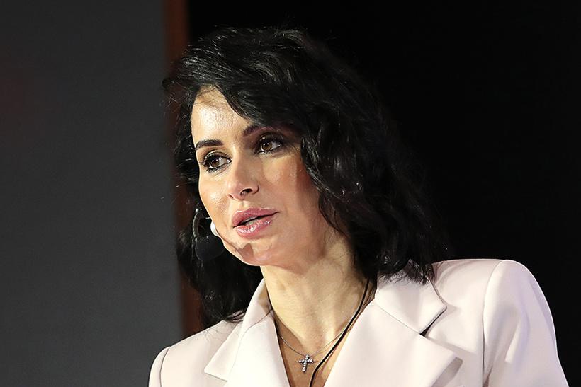 Тина Канделаки, жена директора госкорпорации «Ростех» по особым поручениям Василия Бровко