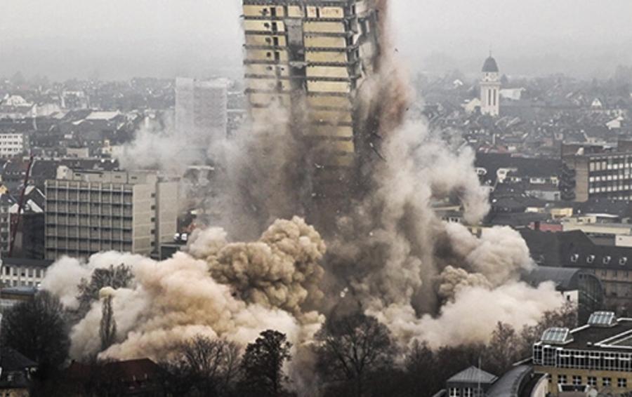 Здание Франкфуртского университета высотой 116 м простояло всего 45 лет