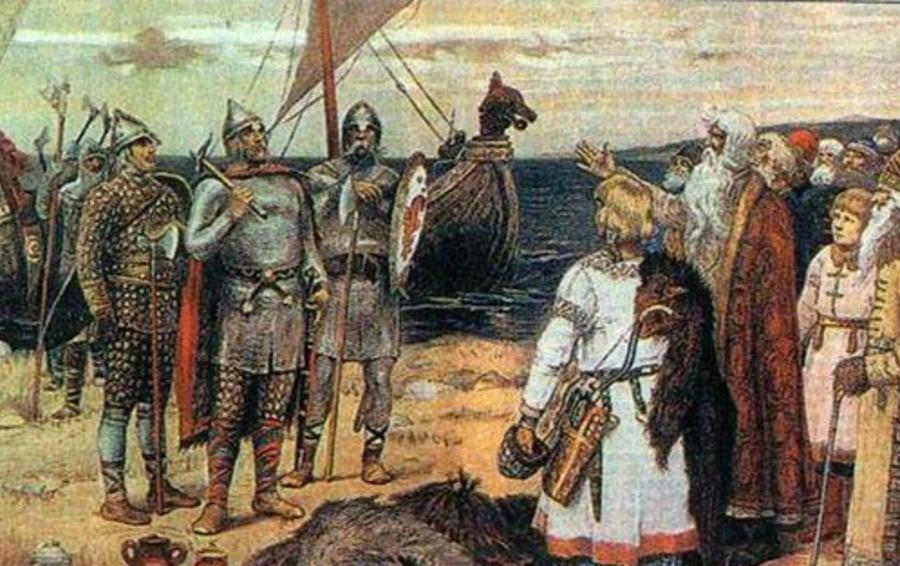 Картина Аполлинария Васнецова «Призвание варягов»
