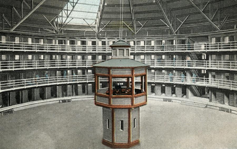 Внутренний вид тюрьмы разработаной с использованием принципа
