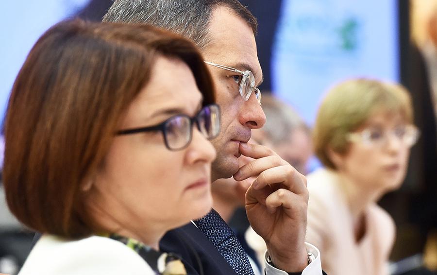 Михаил Сухов и Эльвира Набиуллина