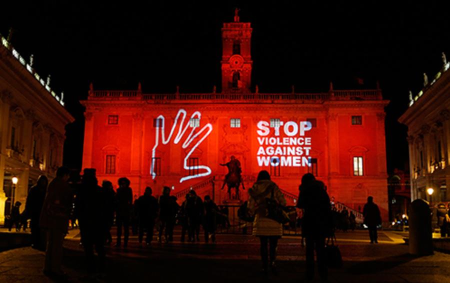 Инсталяция, посвящённая Международному дню борьбы за ликвидацию насилия в отношении женщин