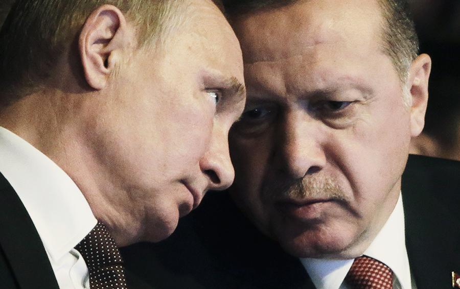 Владимир Путин и Реджеп Эрдоган во время сессии 23-го Мирового энергетического конгресса